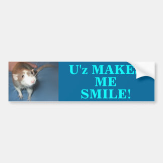 SMILING RAT BUMPER STICKER