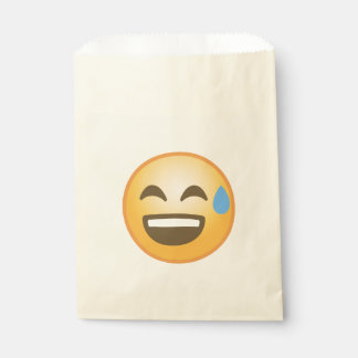 Smiling Relieved Emoji Favour Bags