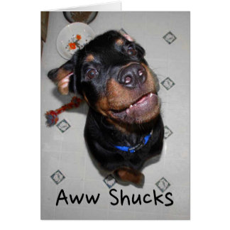 Smiling Rottweiler Puppy Thank You Note Card