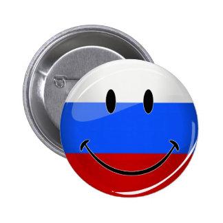 Smiling Russian Flag 6 Cm Round Badge