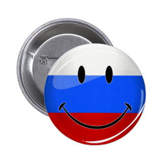 Smiling Russian Flag 2 Inch Round Button
