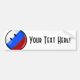 Smiling Russian Flag Bumper Sticker