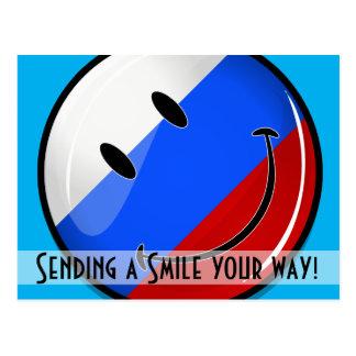 Smiling Russian Flag Postcard