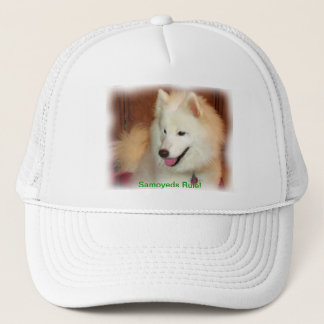 Smiling Samoyed Digital Oil Painting Effect Hat