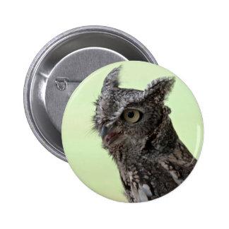 Smiling Screech Owl photo button