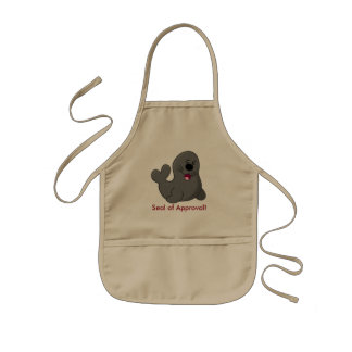 """Smiling Seal of Approval"" Kids Apron"