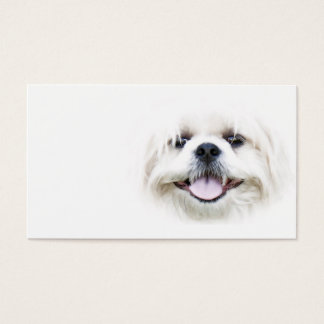 Smiling shih tzu business card