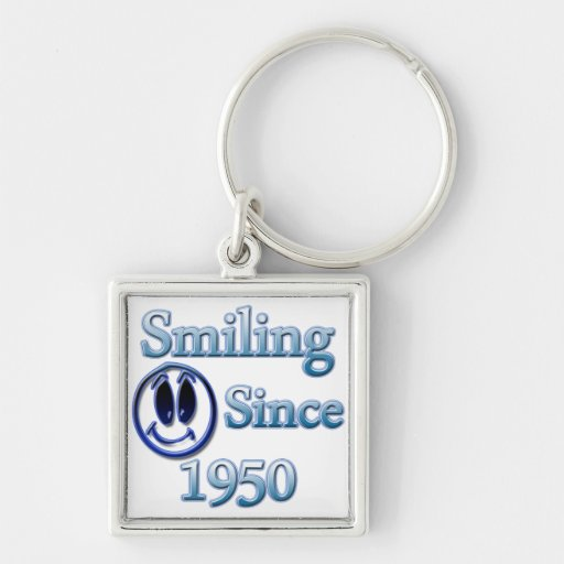 Smiling Since 1950 Keychains