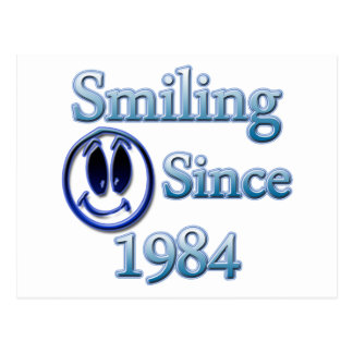 Smiling Since 1984 Postcard