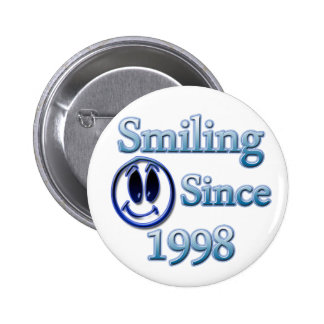 Smiling Since 1998 6 Cm Round Badge