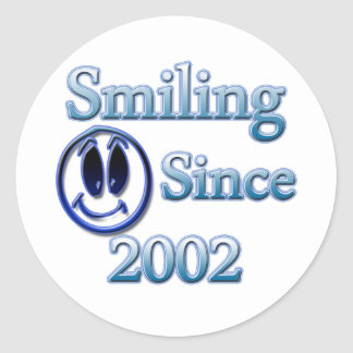 Smiling Since 2002 Classic Round Sticker