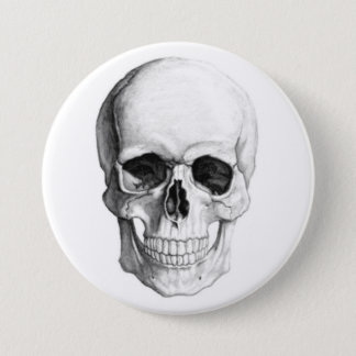 Smiling Skull 7.5 Cm Round Badge