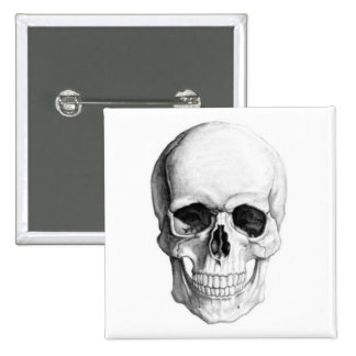 Smiling Skull 15 Cm Square Badge
