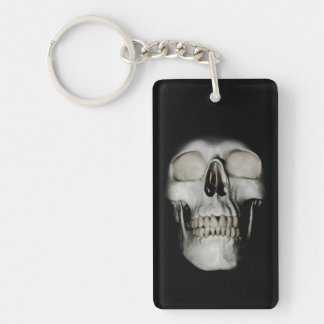 Smiling Skull emerging Key Ring