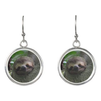 Smiling Sloth Earrings