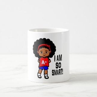 Smiling Smart and Cute African American Girl mug