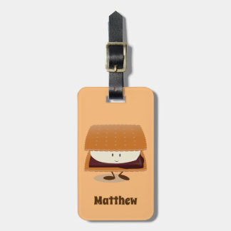 Smiling Smore with Name | Luggage Tag