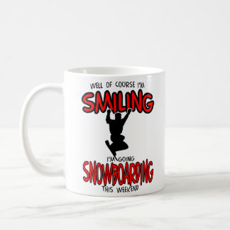 Smiling SNOWBOARDING weekend 2.PNG Coffee Mug