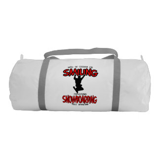 Smiling SNOWBOARDING weekend 2.PNG Gym Bag