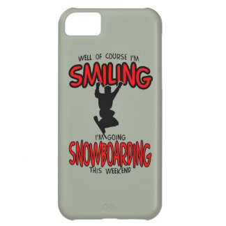 Smiling SNOWBOARDING weekend 2.PNG iPhone 5C Case