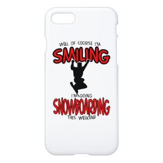 Smiling SNOWBOARDING weekend 2.PNG iPhone 7 Case