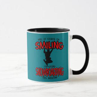 Smiling SNOWBOARDING weekend 2.PNG Mug