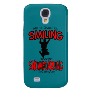 Smiling SNOWBOARDING weekend 2.PNG Samsung Galaxy S4 Cover