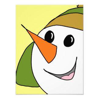 Smiling Snowman Photograph