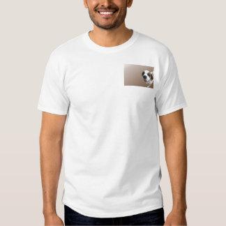 Smiling St. Bernard on Brown T-shirt