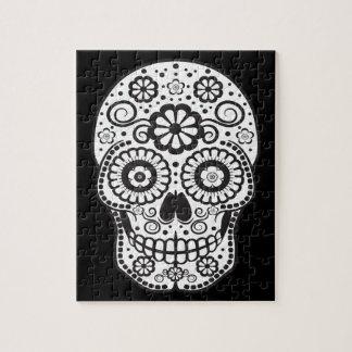 Smiling Sugar Skull Jigsaw Puzzle