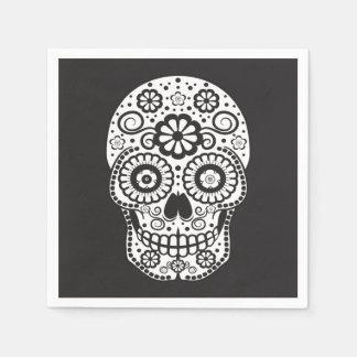 Smiling Sugar Skull Paper Napkin