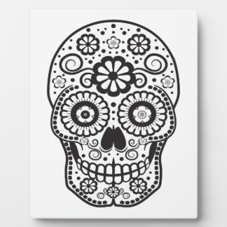 Smiling Sugar Skull Plaque