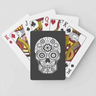 Smiling Sugar Skull Playing Cards