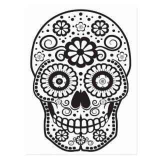 Smiling Sugar Skull Postcard