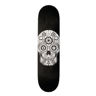 Smiling Sugar Skull Skateboard Deck