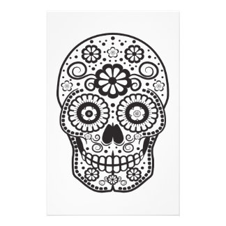 Smiling Sugar Skull Stationery