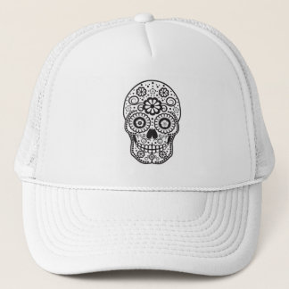 Smiling Sugar Skull Trucker Hat