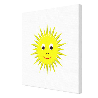 Smiling Sun canvas Gallery Wrapped Canvas