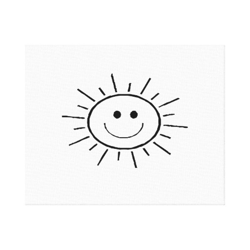 Smiling Sun Gallery Wrap Canvas
