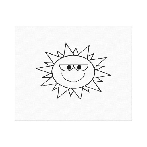 Smiling Sun Stretched Canvas Prints