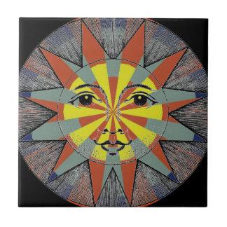 Smiling Sun Ceramic Tile