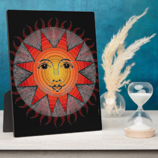 Smiling Sun Display Plaque