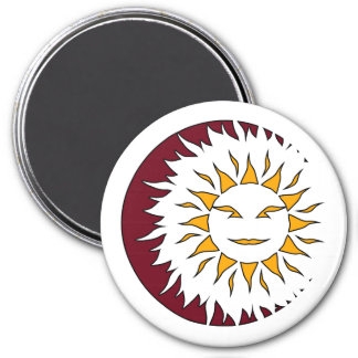 Smiling Sun Eclipse Magnet