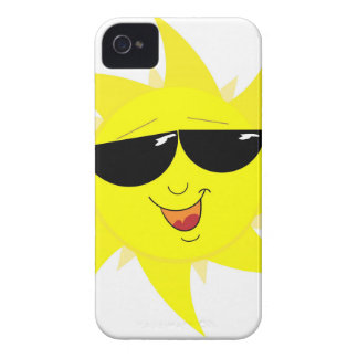 Smiling Sun Face In Sunglasses iPhone 4 Cover