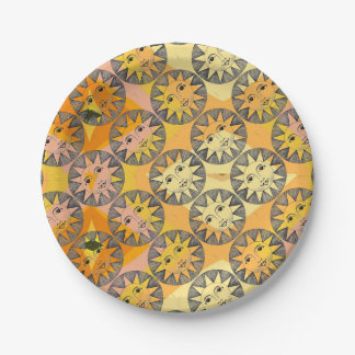 Smiling Sun Paper Plate