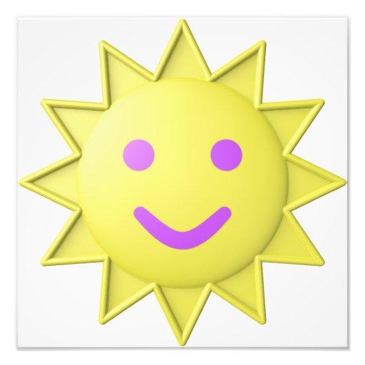 smiling sun photo print