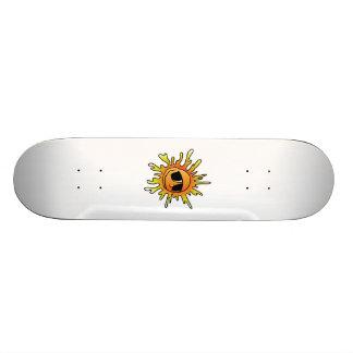 Smiling Sun Wearing Sunglasses Skateboards