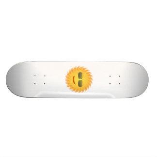 Smiling Sun Wearing Sunglasses Skateboard Deck