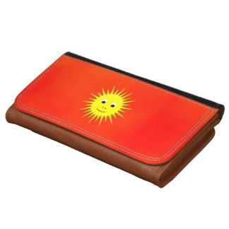 Smiling Sun with an orange sky wallet