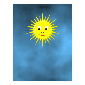 Smiling Sun with blue sky rack card Personalised Flyer